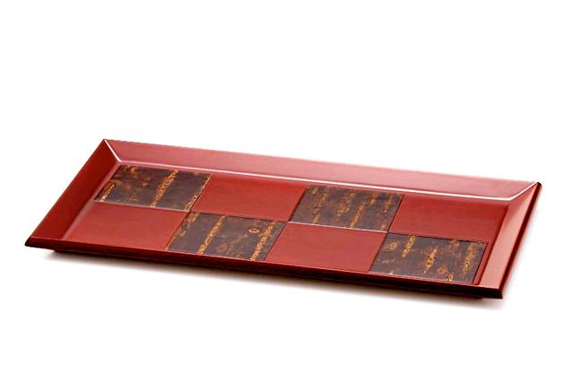 樺細工,トレイ,お盆,紅桜