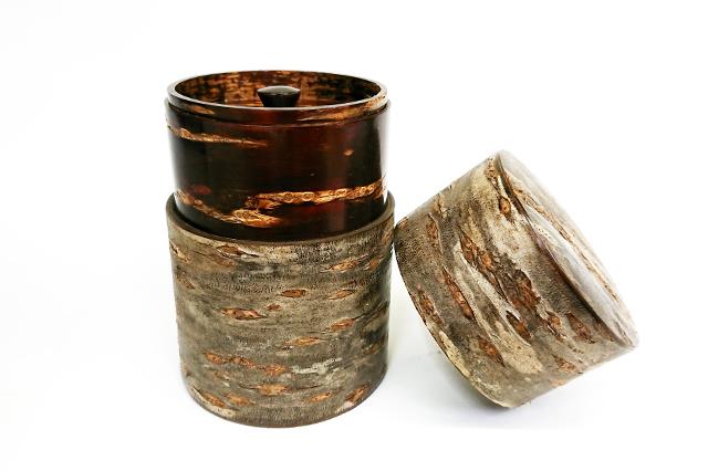 樺細工,キャニスター,茶筒