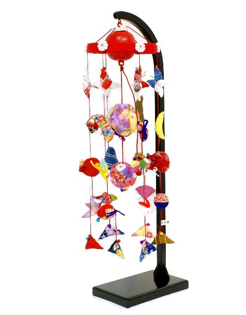 【雛人形】 リモコン回転式 吊るし雛飾り(H550)