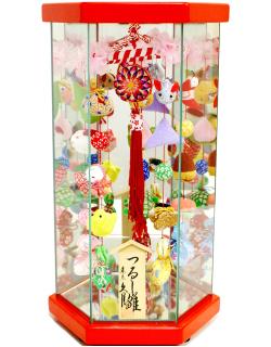 【雛人形】久月作 さげもん「吊るし雛」 ケース飾り(TAR23-3)
