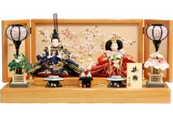 【雛人形】華芳作 「御雛」 親王平飾り (18-73)