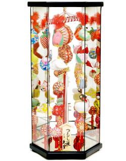 【雛人形】久月作 さげもん「吊るし雛」 ケース飾り(TAR23-2)