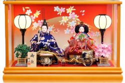 【雛人形】桜雅作 「燈雛」二人親王 ケース飾り (33240)