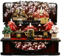 ポイント3倍!【雛人形】 千匠作 天使の十二単衣「雛ごよみ」三段飾り(37N-2)