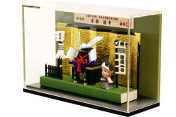 まとい五月人形 「キューピー纏兜」 アクリルケース飾り(4-2) ※納期約2週間・送料660円
