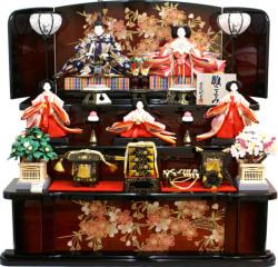 ポイント3倍!【雛人形】 千匠作 天使の十二単衣「雛ごよみ」三段飾り(45A-17)