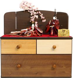 【雛人形】千匠作 引出しタンス式 コンパクト収納飾り(48EM-2)