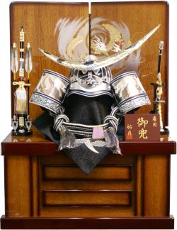 【五月人形】祐月作 「伊達政宗」 着用兜 収納飾り(502OU)