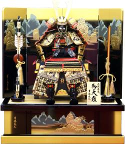 【五月人形】吉徳大光作 正絹「御大鎧 12号」高床台飾り(518-951)