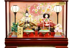 【雛人形】久月作 「よろこび雛」二人親王 ケース飾り (5891)