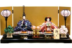 【雛人形】雅泉作 「雛浪漫」 親王平飾り (GT-081)