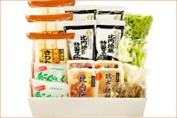 秋田の「きりたんぽ鍋セット」,5〜6人前,比内地鶏肉&スープ付き【同梱不可】
