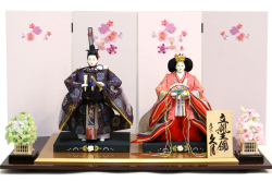 【雛人形】久月作 立雛  親王平飾り (S-29165)