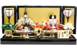 【雛人形】久月作 「よろこび雛」二人 親王平飾り (S-31117-2)