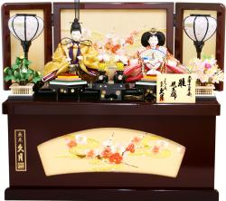 【雛人形】久月作 「よろこび雛」二人親王 コンパクト収納飾り (S-31172)