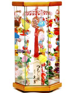 【雛人形】久月作 さげもん「吊るし雛」 ケース飾り(TAR22-1)