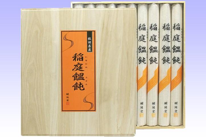 醍延堂 稲庭うどん 木箱入り (O-50)