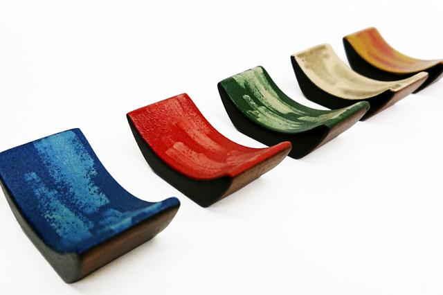 川連漆器,摂津,箸置き