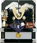 【五月人形】久月作 家紋「織田信長 兜」 コンパクト収納飾り(1068)