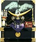 【五月人形】久月作 家紋「上杉謙信 兜」 コンパクト収納飾り(1078)