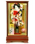 【羽子板】久月作 花 春彩ケース飾り(15142-4)