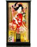 【羽子板】久月作 福寿金彩 花 アクリルケース飾り(15210-3)