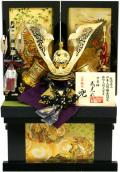 【五月人形】武光作 「立体透かし大鍬形 兜」収納飾り(15235)