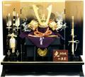 【五月人形】久月作 家紋「朱絲縅兜」 平飾り(1567)