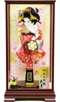 当日発送可:【羽子板】久月作 さがの振袖 春路ケース飾り(16040-1)