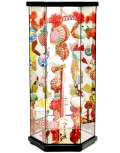 【雛人形】久月作 さげもん「吊るし雛」 ガラスケース飾り(TAR23-2)