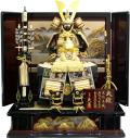 【五月人形】久月作 家紋「勇知 緋縅」 鎧 高床飾り(2038)