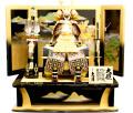 【五月人形】久月作 家紋「華英 緋縅 大鎧」 那須与一屏風飾り(2041)
