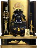 【五月人形】久月作 家紋「雷帝 正絹糸縅 伊達政宗鎧」 高床台飾り(2058)