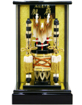 【破魔弓】久月作 「銀嶺」 ガラスパノラマケース飾り(251308)
