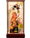 【羽子板】久月作 初音振袖 扇 鳳苑ケース飾り(25160-1)