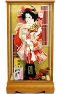 【羽子板】久月作 紅華 ケース飾り(25191-2)