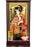 【羽子板】久月作 初音振袖扇末広 春華ケース飾り(25200-1)