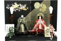 【雛人形】吉徳大光 京都西陣 有職紋様「立姿雛」 親王平飾り(305-224)