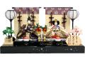 【雛人形】吉徳大光 「花ひいな」 二人親王平飾り(305-714)