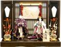 【雛人形】吉徳大光 立姿雛「春窓雛」  親王平飾り(305-768)