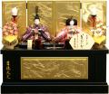 【雛人形】吉徳大光  「花ひいな」二人親王 コンパクト収納飾り(305-787)