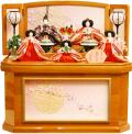 【雛人形】吉徳大光  「花ひいな」五人コンパクト収納飾り(306-103)