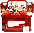 【雛人形】吉徳大光 京都西陣 「花ひいな」五人コンパクト収納飾り(306-391)