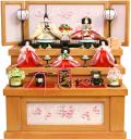 【雛人形】吉徳大光 「花ひいな」五人 収納式三段飾り(306-394)