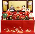 【雛人形】吉徳大光 毛氈「御雛」五人 三段飾り(606-166)