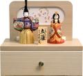 【雛人形】 久月 一秀作 木目込み 「立雛 親王」 収納飾り(31916)