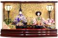 【雛人形】吉徳大光 「御雛」二人親王 アクリルケース飾り(322-109)