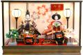 【雛人形】吉徳大光 「御雛」二人親王 ガラスケース飾り(322-230)