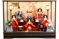 【雛人形】吉徳大光 「御雛」 三人官女 五人ケース飾り(322-275)