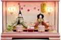【雛人形】吉徳大光 刺繍「おひなさま」二人親王 ケース飾り(322-317)